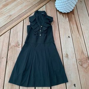 classic, black work dress